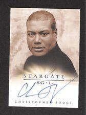 Stargate SG-1 CHRISTOPHER JUDGE Autograph Card Signed 2004