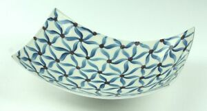 AZETI DECORATIVE FRUIT BOWL or DISH -  HAND MADE ALUMINIUM & HANDPAINTED ENAMEL