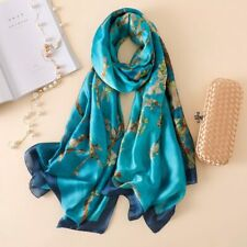 100% Silk scarf.Beautiful Monet's'Blossom' 180x90cm. Still posting,first class.