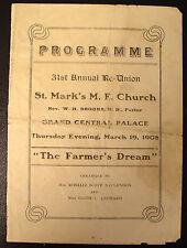 1908 St Marks M.E. Church Harlem 31st Reunion Program