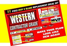 Western Snow Plow MVP V PLOW Ultramount Decal Replacement 11 Piece Kit NEW 8.6