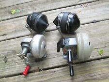 vintage spincast fishing reels,lot of 4