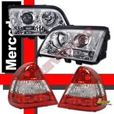 1994-2000 Mercedes Benz W202 C Class Sedan Projector Headlights + Tail Lights