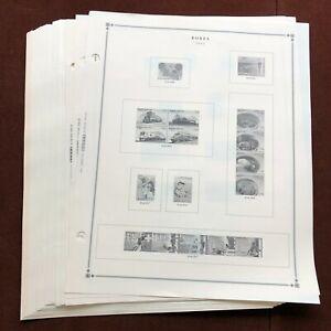 KOREA 2001-2012 Scott International Stamp Album Pages (No Stamps)
