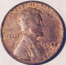 1952-D  LAMINATION ERROR  WHEAT LINCOLN CENT (MAJOR ERROR)  NICE COIN  #201