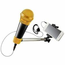 Selfie Mic Music Set Karaoke Microphone Stick Black