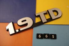 NEW OLD STOCK CITROEN 1.9 TD BLACK & SILVER GREY SELF ADHESIVE BADGE EMBLEM.