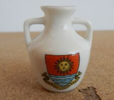 Crested Ware 2 Handled vase Weston Super Mare Coat Of arms