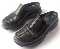 Dansko Womens Dark Chocolate Brown Leather Clogs Slip On Mule Loafers 39 EU 8 US