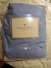 Pottery Barn Bed Skirt with 14� Drop King Size Blue Chambray New Open Package