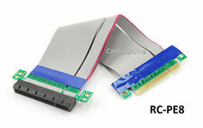 """7"""" PCI-Express 8x Riser Card Motherboard Extender Flexible Ribbon Cable"""