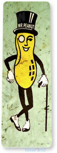 TIN SIGN Mr. Peanut Peanuts Kitchen Rustic Metal Decor B638
