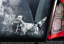 English Setter - Car Window Sticker - Dog Sign -V01