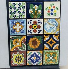 Mexican Talavera Clay Tiles Ceramic Handcrafted 4x4 - 100 Mixed Pcs Lot