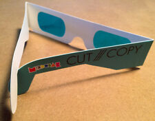 CUT COPY promotional glasses foe '3d' glasses blue eyes in ghost colours modular