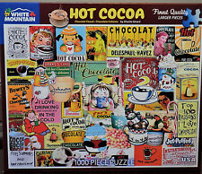 White Mountain Charle Girard Hot Cocoa Collage 1000 Pc Jigsaw Puzzle
