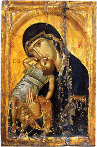 Fine Art Print of Religious Icon: Virgin Pelagonitissa