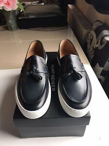 Kurt Geiger Capri Mens Shoe Casuals Navy Leather Size 44 / 10