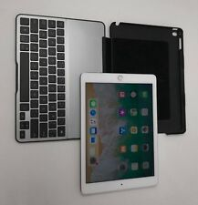 "Apple iPad Air 2 9.7"" Tablet 64GB WiFi + Cellular White W/ KEYBOARD and CASE"