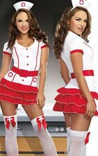 Sexy Women Nurse Costume Dress Halloween Cosplay Party Outfit Dress S-M