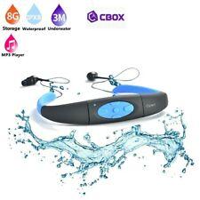 Lecteur MP3 8 Go étanche waterproof à 3 mètres + Radio FM couleur bleu