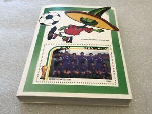 / 100X ST. VINCENT 1986 - MNH - SOCCER - SPAIN - WHOLESALE