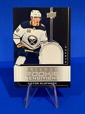 2019-20 Trilogy Victor Olofsson Rookie Renditions Jersey Card BV $15 Buffalo