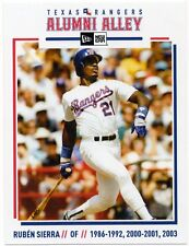 Texas Rangers New Era Alumni Alley Team Issued Postcard Ruben Sierra SGA