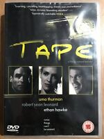 Tape DVD 2001 Linklater Indie Cult Drama Movie w/ Ethan Hawke and Uma Thurman