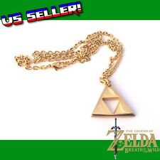 Legend Of Zelda GOLD Triforce Metal Charm Necklace Ocarina Of Time Heroes Link