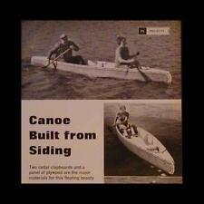 Build a 16' Cedar Canoe from Clapboard 1967 How-To build PLANS easy build