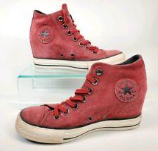 Converse Chuck Taylor Platform Wedge Lift Women Shoe Size 6 Red Leather 550671C