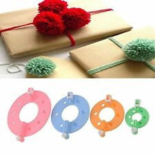 4 Size Pompom Maker Fluff Ball DIY Tool Weaver Needle Knitting bobble Craft