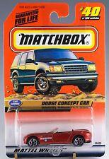 Matchbox MB 40 Dodge Concept Car Orange Bronze Mint On Card 1999