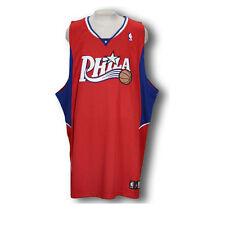 Adidas NBA Basketball Men's Philadelphia 76ers Authentic Blank Jersey - Red