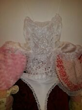 Vintage Valentine Camisole Gown Nylon Sheer Lace Sides L/Xl Free Thong Xl Nwt