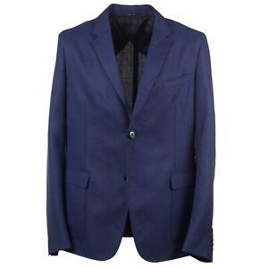 Gucci Slim-Fit Blue Woven Fresco Wool Blazer Eu 54 (fits 42R) Sport Coat