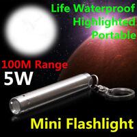 Mini LED Flashlamp Pocket Tactical Flashlight Torch Lamp Camping LED Pen Light--