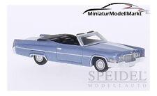 #87086 - BoS Cadillac DeVille Convertible - metallic-hellblau - 1970 - 1:87