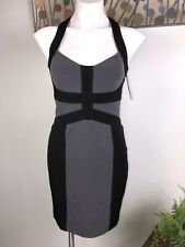 NWT Laundry Shelli Segal Los Angeles Black Gray Church Dress Women's Sz 2