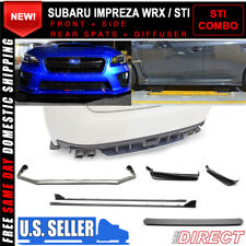 Fits 15-18 Subaru WRX OE STI Style V Limited Front + Rear Lip+ Side Skirts ABS