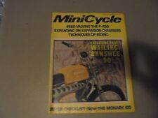 NOVEMBER 1972 MINICYCLE MAGAZINE ,BENELLI BANSHEE 90,MONARK 100,EXPANSION CHAMBE
