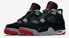 """Nike Air Jordan 4 Retro GS Black Fire Red Cement """"BRED"""" 408452-060 Size 5Y"""