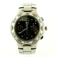 TAG HEUER KIRIUM CHRONO CL2110 BLACK DIAL S.S. MENS WATCH FOR PARTS OR REPAIRS