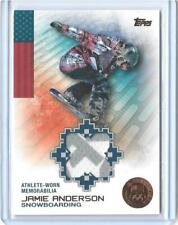 RARE 2014 TOPPS OLYMPIC JAMIE ANDERSON BRONZE RELIC CARD ~ /75 ~ SNOWBOARDING