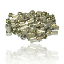 100 x Screw/Twist on F Connectors Fits Satellite TV Aerial Coax Coaxial Cable