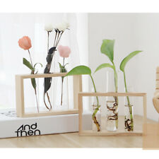 New Hydroponic Glass Test Tube Flower Pot Plant Vase Terrarium Container Decor