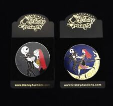 Disney Auctions Nightmare Before Christmas Jack & Sally Profile Pin RARE