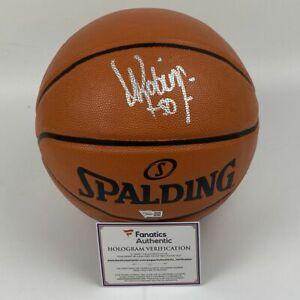 Autographed/Signed DAVID ROBINSON Spurs Spalding F/S Basketball Fanatics COA