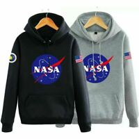 NASA Logo Hoodie Sweatshirt Men/Women Sweater Jacket Coat Pullover Outwear Tops